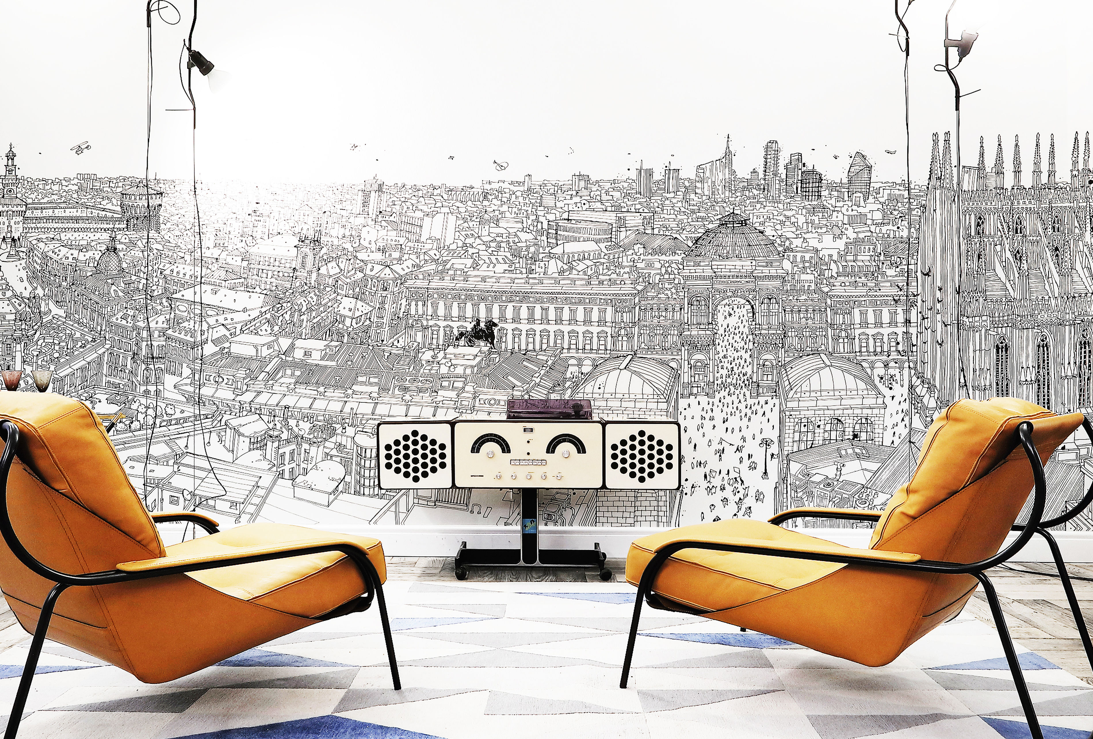 Wallpaper by Wallpaper in Salvioni Design Solutions Showroom in Mailand