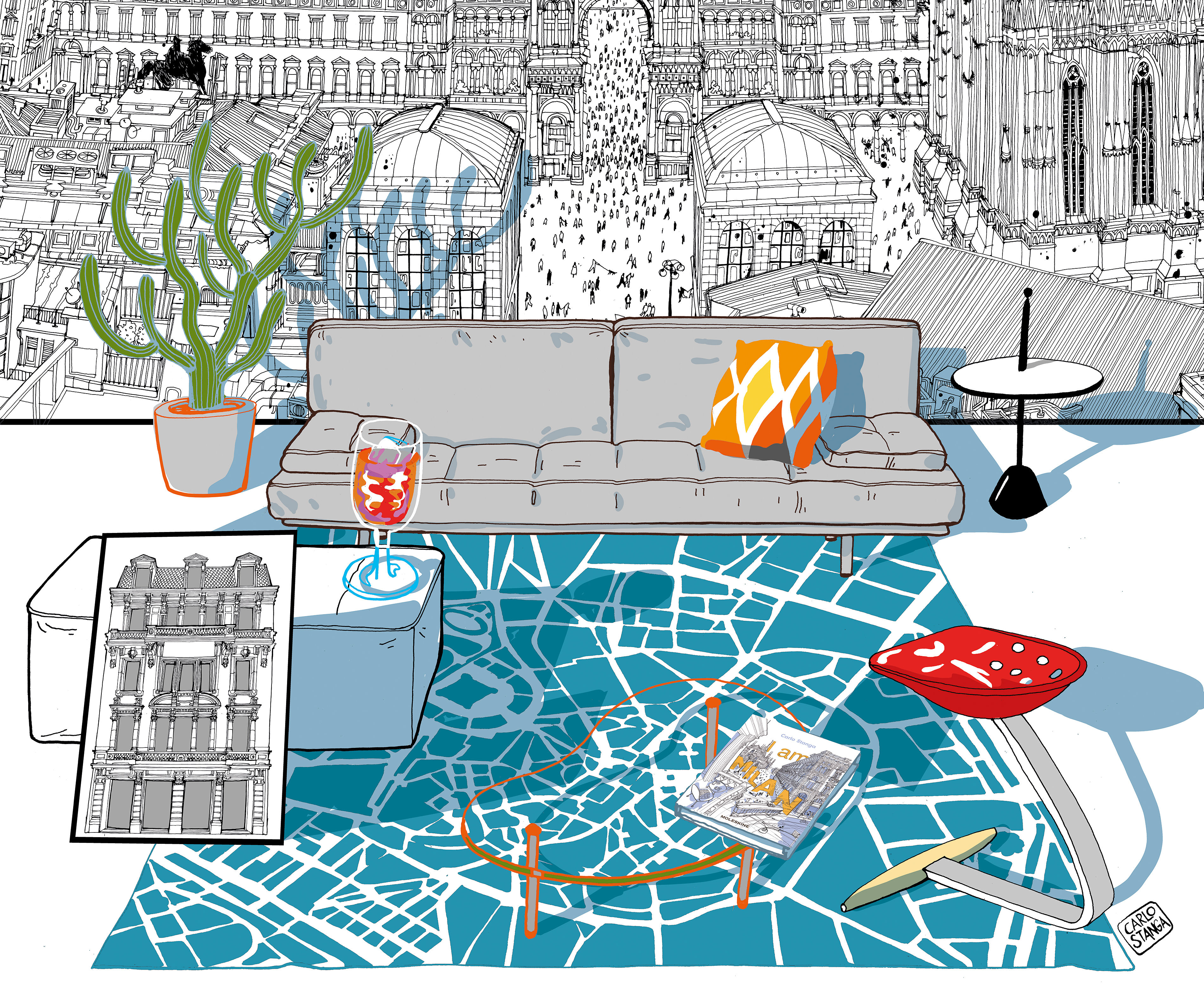 INTERNO MILANESE ILLUSTRATION